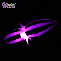 New beautiful party/club/event decoration inflatable led light hanging balloon with white and black stripes toys