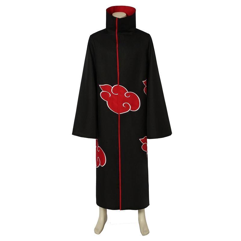 Anime Naruto Akatsuki Uchiha Itachi Cosplay Costume Hoodie Cloak Akatsuki Ninja Cape Halloween Party Christmas Outfit Full Set