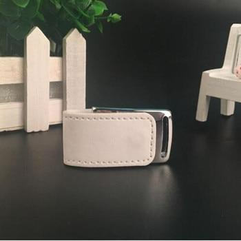 Custom LOGO New Leather 3.0 USB Stick Pen drive with box