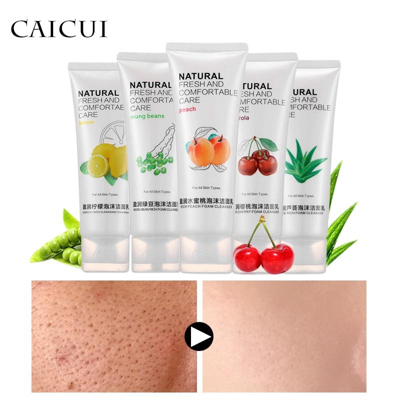 Plant Pure Cleansing Foam Facial Cleanser Shrink Pores Control Oil Whitening Moisturizin ...