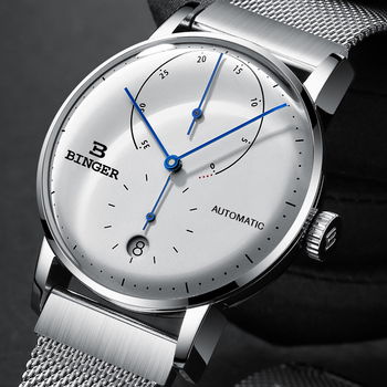 Switzerland BINGER Men Watch Luxury Brand Automatic Mechanical Mens Watches Sapphire Male Japan Movement reloj hombre B-1187-4