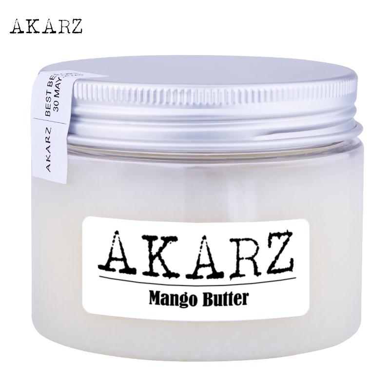 AKARZ Brand Mango Butter High-quality Origin Southeast Asia White Solid Skin Care Face Products Cosmetic Raw Materials Base Oil