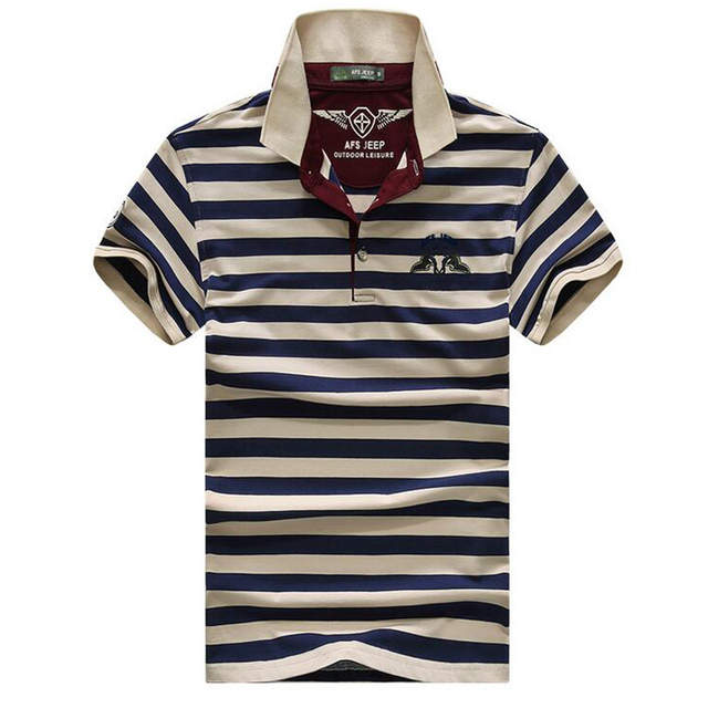 Casual POLO shirt male summer fashion new men's striped cotton Short Sleeve polo shirt Slim ralp men camisa plus Size XXXL