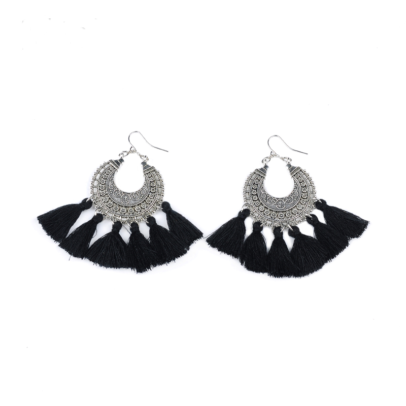 New fashion jewelry accessories Bohemia hollow mix color tassel dangle earring best gift for lover s girl wholesale E356