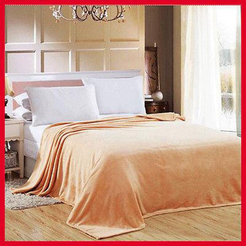 150 200cm 180 200cm Solid Color Flannel Blanket Sofa Bedding Bedspread Air Travel Throw Blanket Rug Soft Fleece Winter Bedsheet