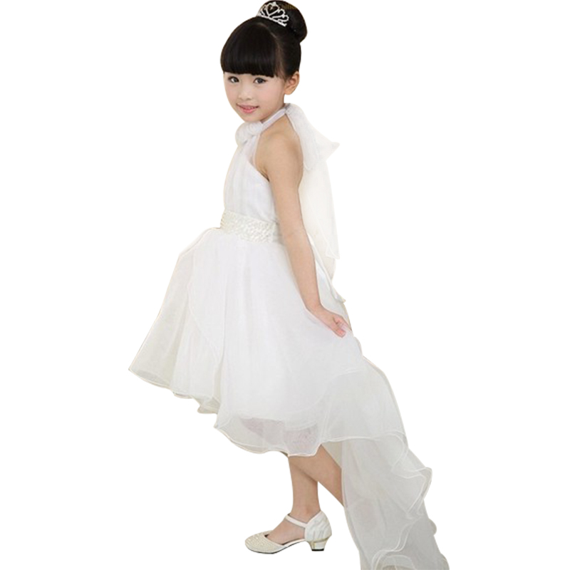 61fac9ce433d1 US $11.09 26% OFF|Baby Girls Party Dress Princess Lace Long Tail Wedding  Kids Dresses Vestido Elegant Flower Girl Dress Evening Wear-in Dresses from  ...