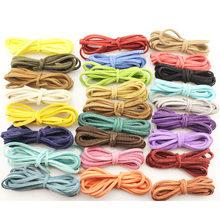 1 meter 2.6mm Korean Velvet Leather Cord String Rope Thread Vintage Cording Decorative Rope for DIY craft bracelet necklace