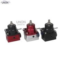 Adjustable Autos Fuel Pressure Regulator 160 PSI AN6 Fitting NPT Gauge Port