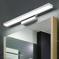 L LED gold mirror cabinet light simple bathroom moisture proof bathroom mirror headlight dressing table retro strip wall lamp