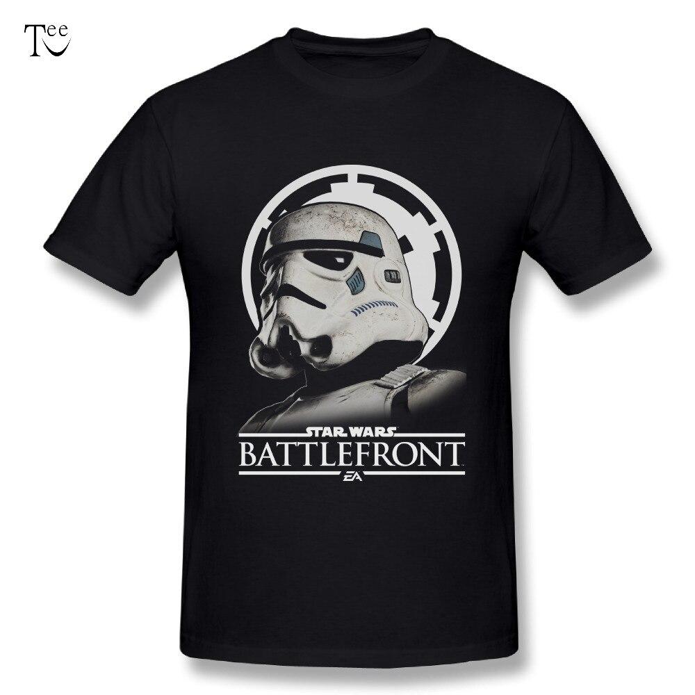 Звездные войны Новый Дизайн Для мужчин Battlefront штурмовика футболки Удобная футболка  ...