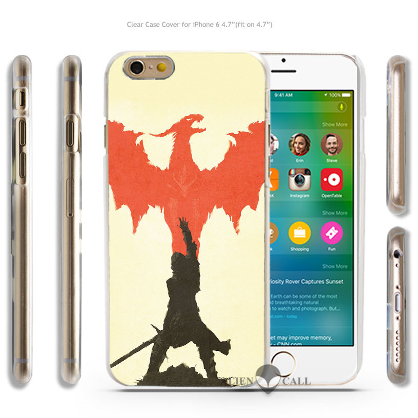 aj11 dragon age minimal Hard Transparent Clear Case Cover Coque Shell for iPhone 4 4s 5 5s 5c 6 6 Plus