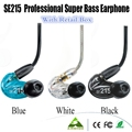 24 Hours Promotion! SE215 In-Ear Earphones Hifi Noise Cancelling Bass Stereo New Wired Headphones (black blue & clear) VS PB2.0