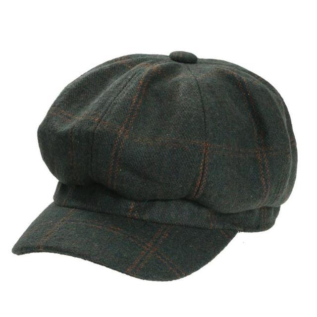 Classic Plaid sombrero de la boina invierno primavera Vintage octogonal Cap  hombres mujeres casquillo hembra sombrero 1a55357983d