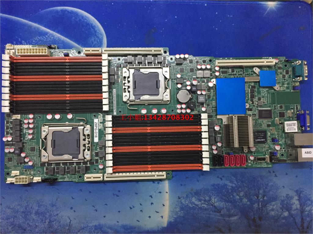 Asus Z8PG-D18 1366-pin dual server motherboard Supports X58 <font><b>X5670</b></font> motherboard image