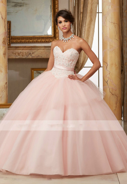 Dress 15 Years Puffy 2016 Quinceanera Dresses 2016 Blush Pink Plus ...