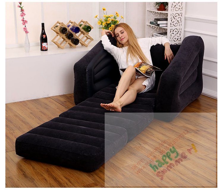 intex inflatable pull out chair twin bed x rocker pro gaming power cable one person folding lounge sofa couch guest jpg