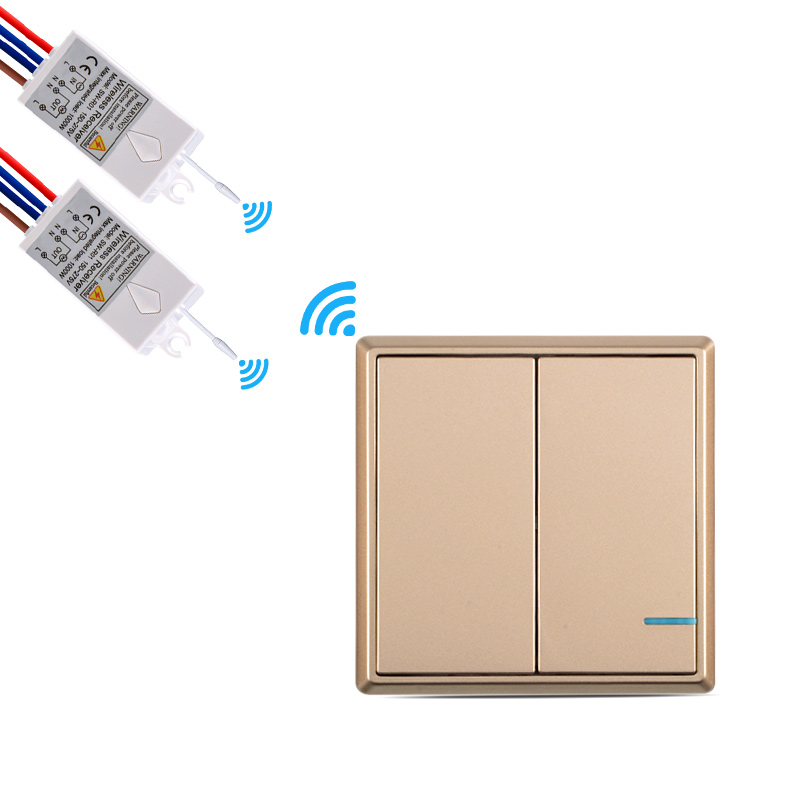 Wireless Light Switch Remote Control Wall Switch up to 50m Ceiling Lamps Lighting LED Bulbs RC No Wire, Quick Create 110V 220VWireless Light Switch Remote Control Wall Switch up to 50m Ceiling Lamps Lighting LED Bulbs RC No Wire, Quick Create 110V 220V