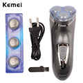 Kemei 3D Floating Rechargeable Men Electric Shaver Razor Face Care Three Blade Beard Trimmer Shaving Machine for Men RCS72GQ-49