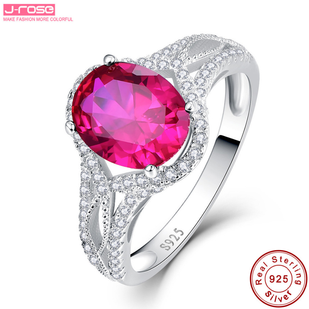 Jrose 2.8ct 100% 925 Sterling Silver Rings AAA Big Ring for Women ...