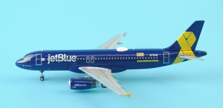 ФОТО Gifts Gemini Jets 1: 400 GJJBU1546 US JetBlue A320-200 Veteran Alloy aircraft model Favorites Model