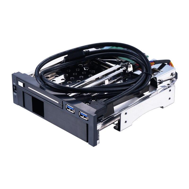 Uneatop ST7221U 2.5 + 3.5 pouces Double Baie 2 baies SATA HDD Boîtier