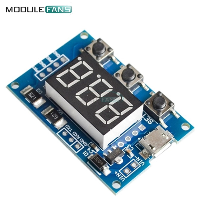 2 CH Channel Dual Way Independent PWM Generator Digital LED Duty Cycle Pulse Frequency Board Module 5-30V/Micro Usb 5V Power