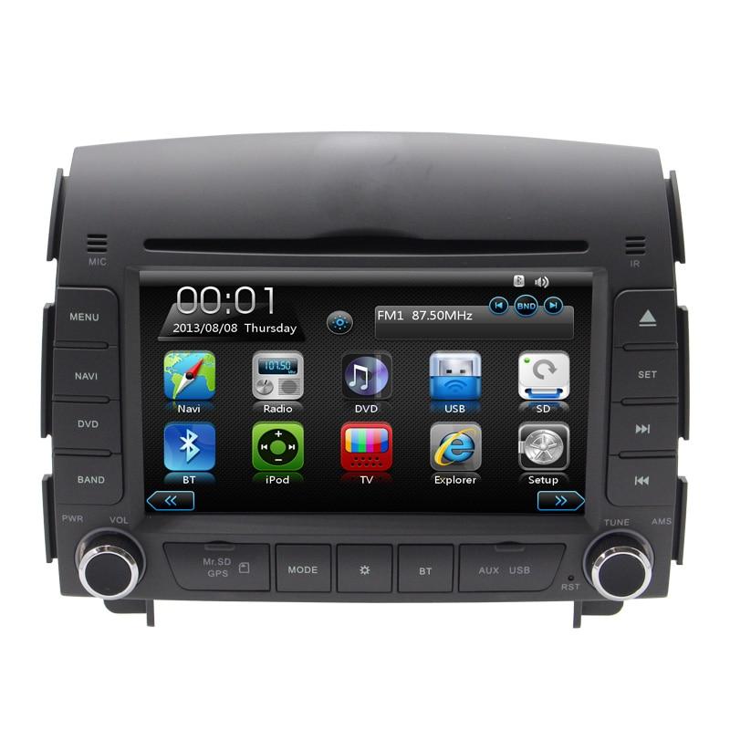 """imágenes para 2 Din 7 """"GPS del coche reproductor de DVD Para Hyundai sonata NF 2004 2005 2006 2007 2008 3G/Wifi puerto USB Radio RDS Ipod TV BT Navegación mapas"""