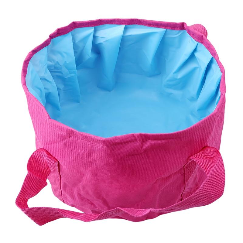 Portable 16L Folding Washbasin Bucket Wash Basin Foldable Camping Water Bag