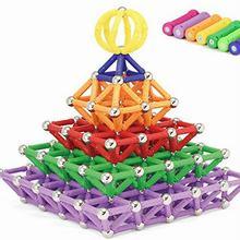 Palos magnéticos Bloques de Construcción 218 unids/set Coche de Juguete de Plástico Juguetes de Inteligencia Imán Educativos Ladrillos Kit Para Niños