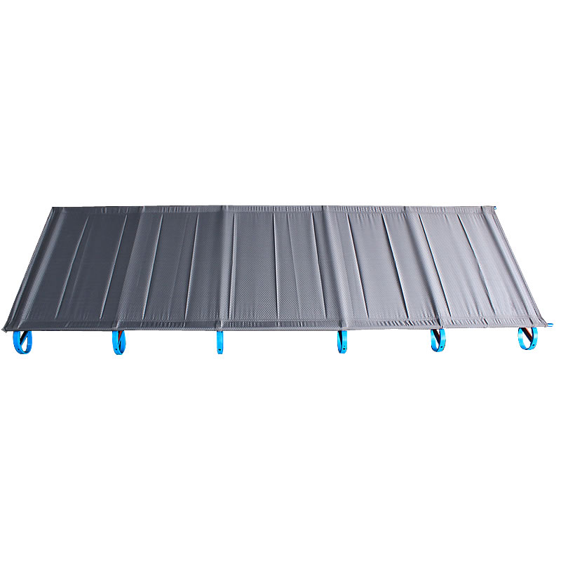 Outdoor Folding Bed Camping Mat Ultralight Single Bed Cot Sturdy Portable Sleeping Bed Aluminium Frame