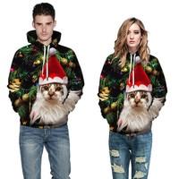 7 Colors Christmas Hoodies Women Men Pullovers 3D Printed Sweatshirt Hooded Jumper Coats Tracksuits Sweatshirts Sweat Hoodie
