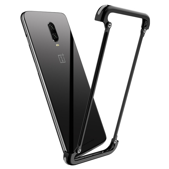 OnePlus 6T Luxury Shockproof Metal Bumper Airbags Back Case Cover