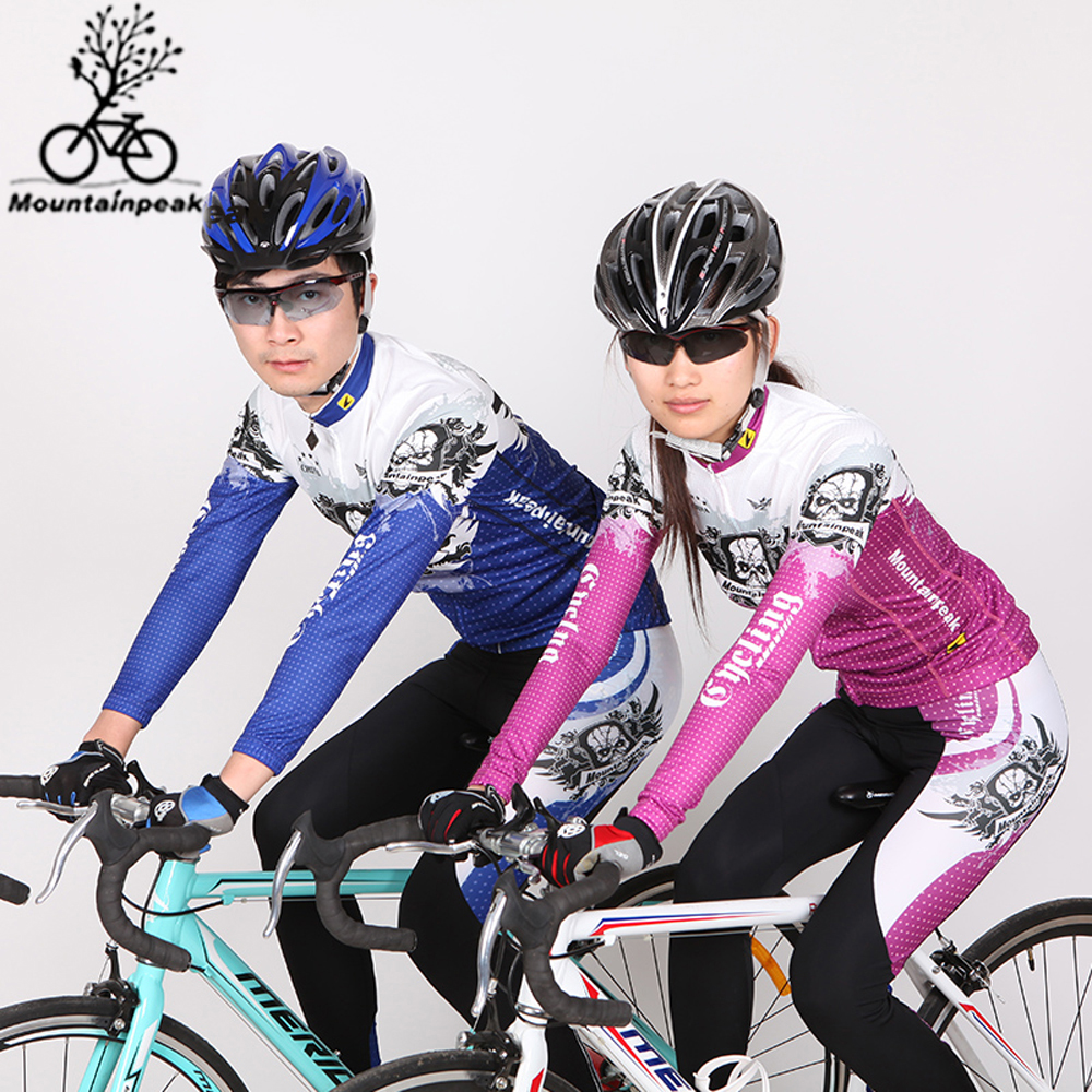 Cycling Jersey Sets Breathable Quick Dry Mountain Bike Sports wear For Spring Autumn Love Couple Outdoor Sports Suitable women s cycling shorts cycling mountain bike cycling equipment female spring autumn breathable wicking silicone skirt