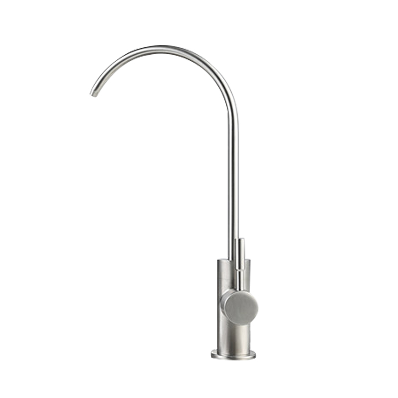Water purifier faucet 2 split 304 stainless steel kitchen faucet sink straight drinking machine water black in Basin Faucets from Home Improvement