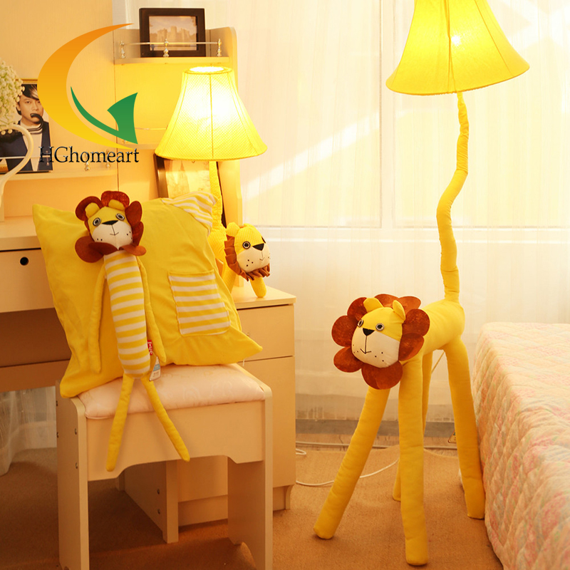 Animal cartoon cloth nordic lamp floor table lamp E27 creative children's room modern minimalist eye kids desk lamps modern minimalist living room floor desk lamp dimming study creative table lamp lighting
