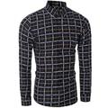 Alta calidad de la marca camisa casual camisa a cuadros de manga larga camisa de los hombres tamaño M-XXL
