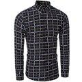 De alta qualidade da marca casual camisa longa-camisa de manga comprida xadrez camisa dos homens tamanho M-XXL