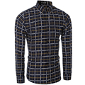 High-quality brand shirt casual long-sleeved plaid shirt men shirt size M-XXL