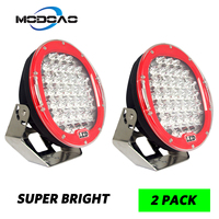 1Pcs 2Pcs 18000lm 9inch 185W Red Round 37 Led Super Bright Driving Spot Work Light Offroad 4WD VS ARB