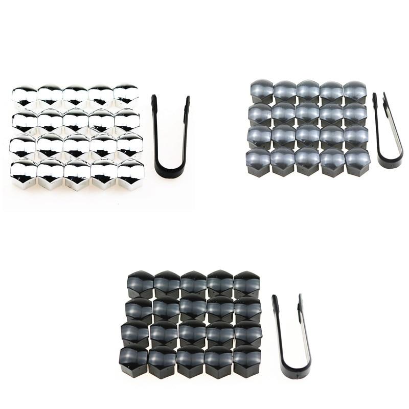 20Pcs/lot Wheel Lug Bolt Center Nut Covers Caps 321601173A for A4 Q5 Jetta Golf Skoda SEAT with 17mm Hexagon Bolt