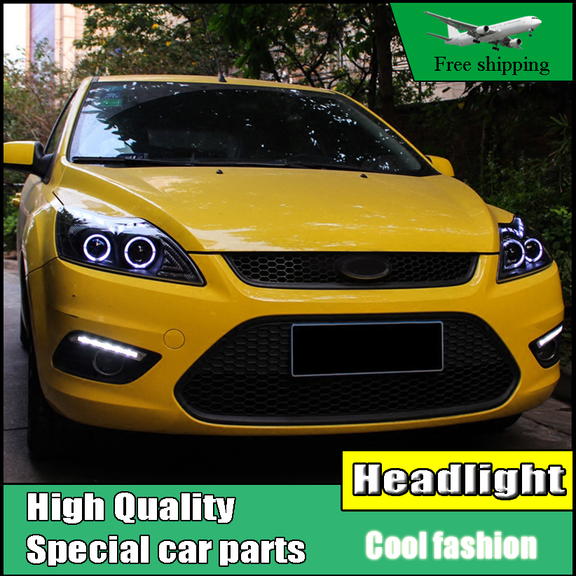 Car Styling Head Lamp For Ford Focus Mk  Led Headlight Drl Bi Xenon Lens High Low Beam O Angel Eyes Drl In Car Light Assembly From