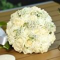 2017 Новое Прибытие 6 Цветов свадебный букет Ручной Работы Розы Розы buque де noivas свадебные цветы свадебные букеты рамос де novia