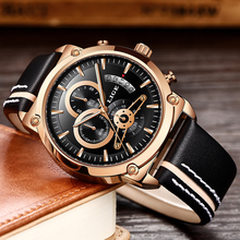 2019 Top Luxury Brand LIGE Fashion Gold Watches Men Quartz Watch Male Chronograph Leather Men WristWatch Relogio Masculino+Box стоимость