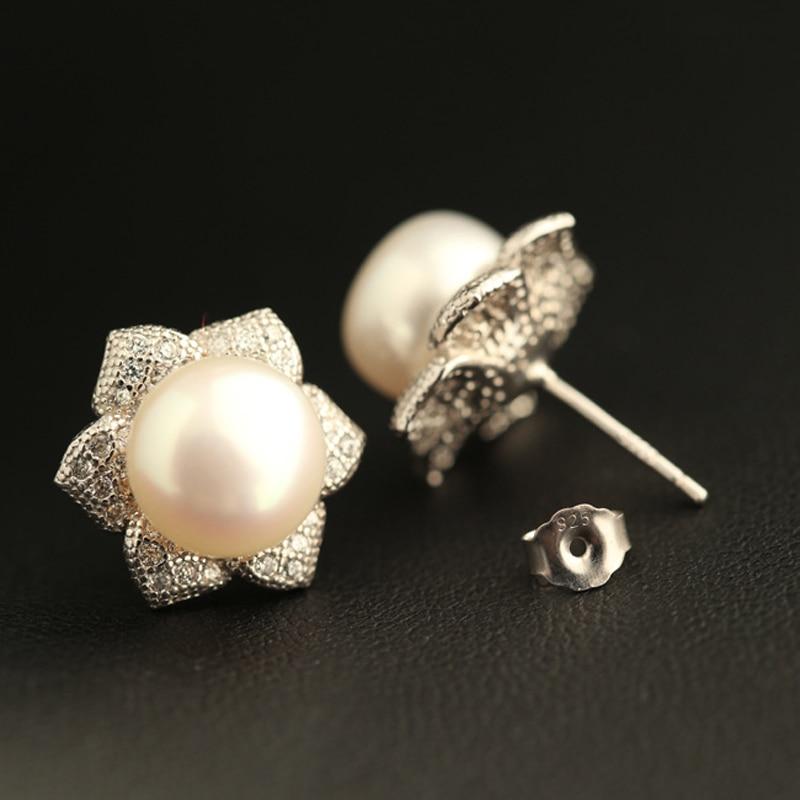1.4 cm naturel d'eau douce grande perle boucles d'oreilles simple mode fête bohême soleil fleurs 925 Sterling argent filles amoureux cadeau