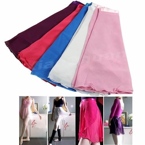 2017 Newest Adult Girl Women Chiffon Ballet Tutu Skirt Dance Skate Wrap Scarf Costume 5 Colors