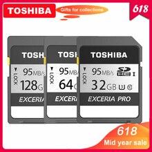 % 100% Orijinal Toshiba exceria pro N401 SD flash kart SD hafıza kartı UHS I U3 32GB 64GB 128GB class10 4K Ultra HD SDHC SDXC