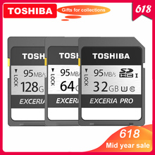 100% Оригинал Toshiba exceria pro N401 SD флеш карта SD карта памяти UHS I U3 32 Гб 64 Гб 128 Гб класс 10 4K Ultra HD SDHC SDXC