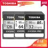 100% オリジナル東芝 exceria プロ N401 SD フラッシュカード sd メモリーカード UHS I U3 32 ギガバイト 64 ギガバイト 128 ギガバイト class10 4 2K ウルトラ HD SDHC SDXC