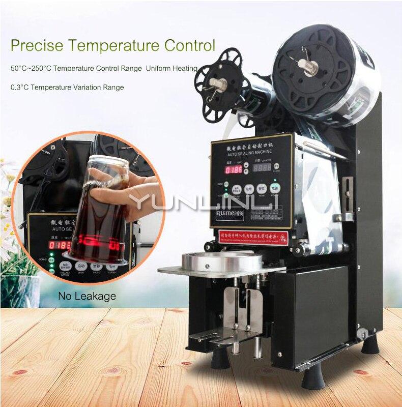 Полностью автоматическая машина для запечатывания напитков/укупорочная машина для молока и чая Коммерческая укупорочная машина для магазина напитков/магазин молока и чая YF95B