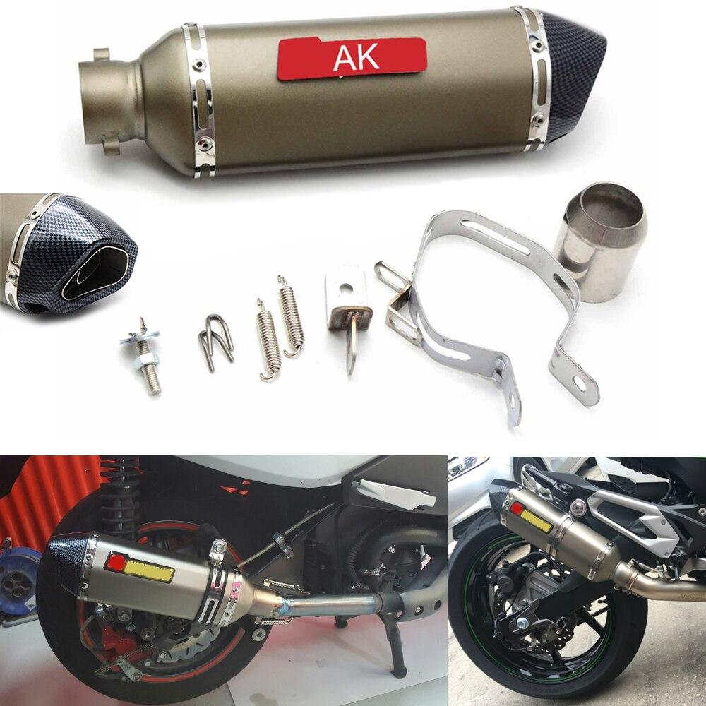 Motorcycle Modified Exhaust Scooter Muffler for yamaha kawasaki Z750R Z1000 Z800 2012 2013 2014 2015 ER-6n Ninja ZX-14R Z750S